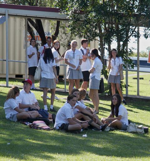 Students having a break