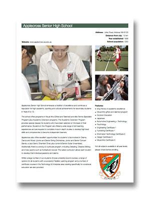 Applecross Senior High School PDF