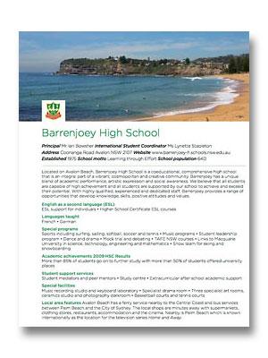 Barrenjoey HS PDF