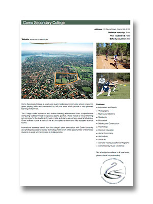 Como Secondary College PDF