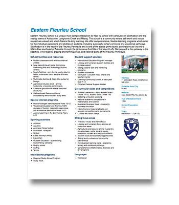Eastern Fleurieu School PDF