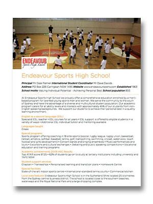 Endeavour Sports HS PDF