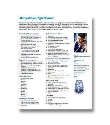 Marryatville High School PDF