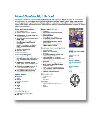 Mount Gambier High School PDF