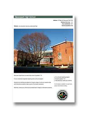 Devonport High School PDF