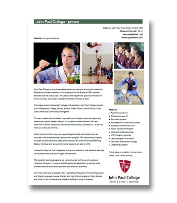 John Paul College PDF